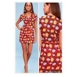 NWT THE FIFTH LABEL UNITE FLORAL TIE-FRONT DRESS